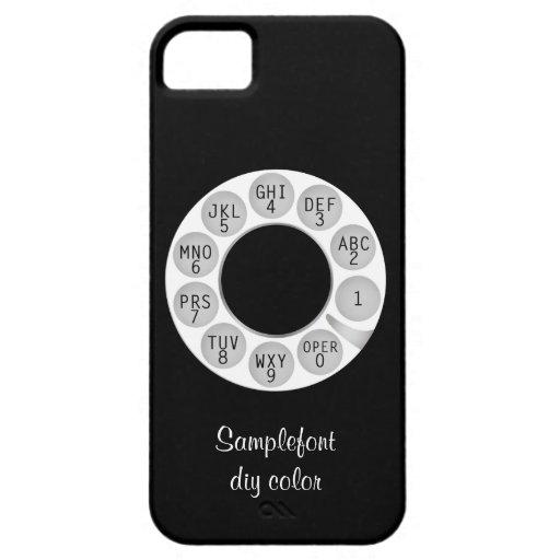 PixDezines rotary phone/white dial/DIY background iPhone 5 Case