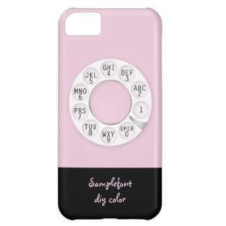 PixDezines rotary phone/white dial/DIY background Cover For iPhone 5C