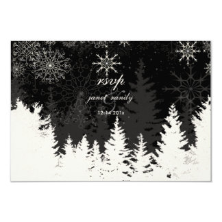 PixDezines rsvp Alpine+Snowflakes,  DIY color Card