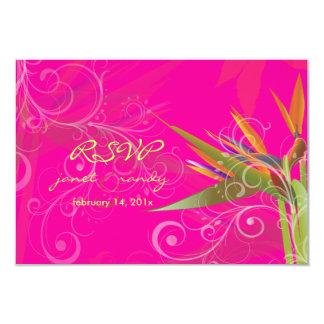 PixDezines rsvp Bird of Paradise+swilrs/DIY color 3.5x5 Paper Invitation Card