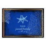 PixDezines rsvp blue starfish+coral/diy color Invite