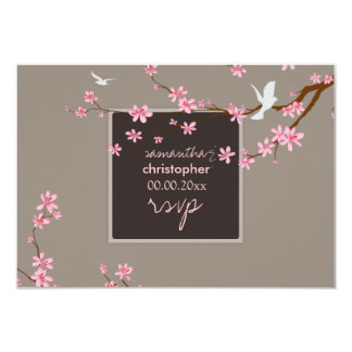 PixDezines rsvp Cherry blossom/diy background Card