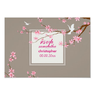 PixDezines rsvp Cherry blossom/diy background Custom Invitation