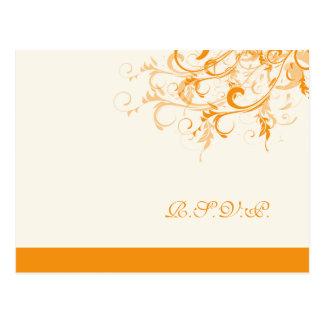 PixDezines rsvp citrus swirls/diy background Postcard