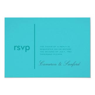 PixDezines RSVP Contemporary + classy/aqua Card
