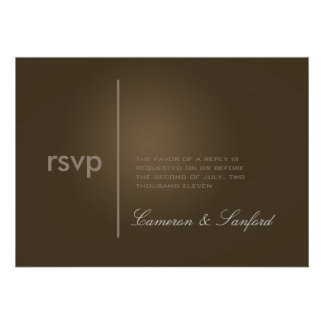 PixDezines RSVP Contemporary + classy/cafe noire Custom Invitations