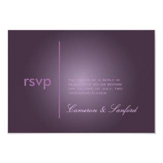 PixDezines RSVP Contemporary + classy/plum Card
