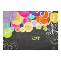 PixDezines rsvp fiesta lanterns chalkboard Custom Announcements