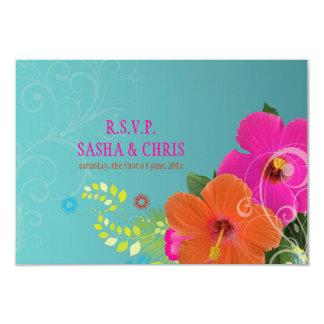 PixDezines rsvp hibiscus+fern Custom Announcement