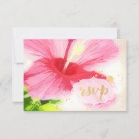 PixDezines rsvp hibiscus/luau/faux parchment