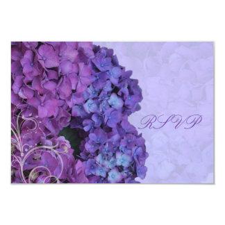 PixDezines RSVP Hydrangea, blue Card