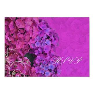 PixDezines RSVP Hydrangea, magenta 3.5x5 Paper Invitation Card