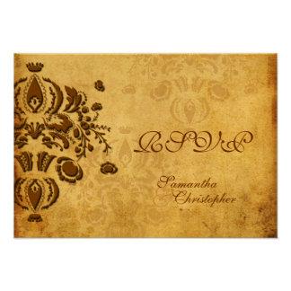 PixDezines RSVP, invitaciones del damasco de Dolcè Invitación