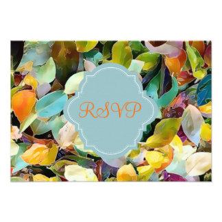 PixDezines rsvp jazzy fall watercolor affect Custom Invitations