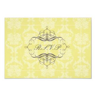 PixDezines rsvp Liliana Damask, customizable Card
