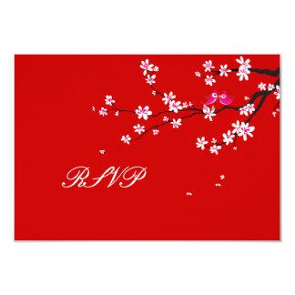 PixDezines rsvp Love Birds+Red Cherry/diy color Card