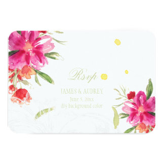 PixDezines rsvp may flower/watercolor Card