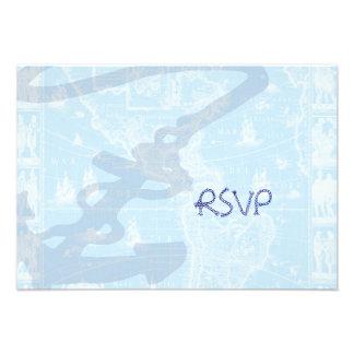 PixDezines rsvp Nautical Antique Map Invites