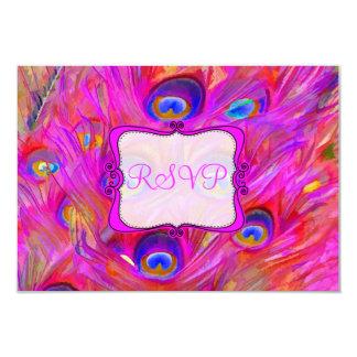 PixDezines rsvp painted peacock/watercolor affect Card