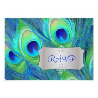 PixDezines rsvp painted peacock watercolor affect Announcement