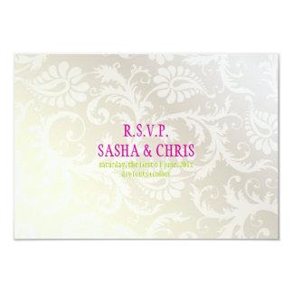 PixDezines rsvp pavo damask/pearly white Card