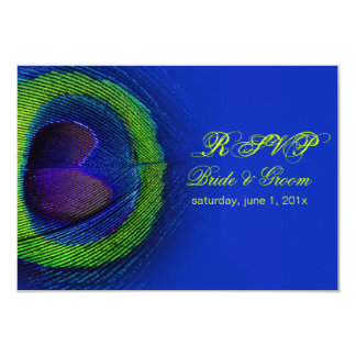 PixDezines rsvp peacock eye/cobalt/diy Card