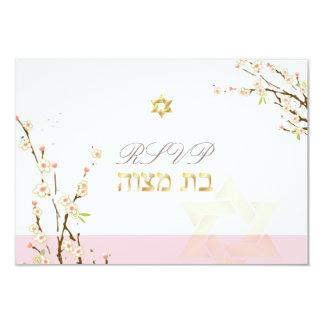 PixDezines rsvp pink cherry blossoms/Bat Mitzvah Card
