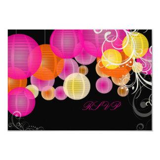 PixDezines rsvp pink/orange/yellow lanterns Card