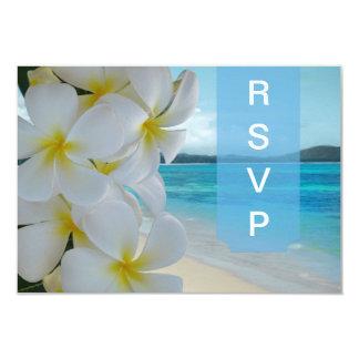 PixDezines rsvp Plumeria Lei /beach Card