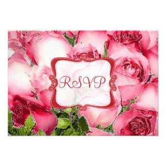 PixDezines rsvp red roses watercolor affect Invites