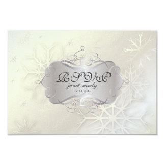 PixDezines rsvp Snowflakes, Winter Wedding Custom Invite