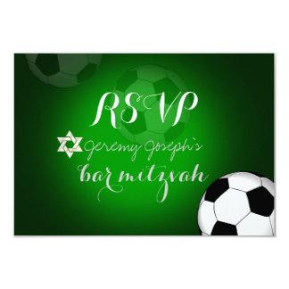 PixDezines rsvp Soccer Bar Mitzvah/DIY color Card