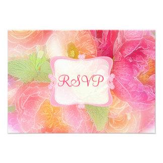 PixDezines rsvp spring bouquet watercolor affect Personalized Invite