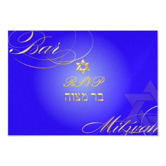 PixDezines rsvp Star of David, Bar Mitzvah/blue Card