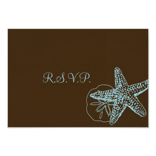 PixDezines rsvp Starfish/Beach Weddings Card