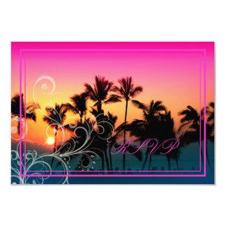 PixDezines rsvp/sunset at A-Bay Custom Invitation Card