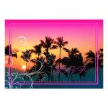 PixDezines rsvp Sunset at A-Bay+swirls Custom Invitations