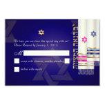 PixDezines rsvp talit/bnai mitzvah/diy 3.5x5 Paper Invitation Card