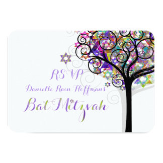 PixDezines rsvp tree of life Bat Mitzvah Invite