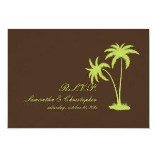 PixDezines rsvp Twin Palms, Chocolate+Kiwi Card