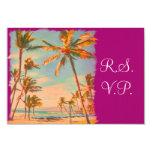 PixDezines rsvp Vintage Beach Scence/Aloha/Luau Custom Invites
