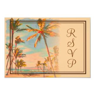 PixDezines rsvp Vintage Beach Scence/Aloha/Luau Invites