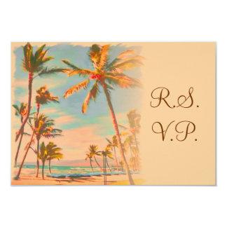 PixDezines rsvp Vintage Beach Scence/Aloha/Luau Invitations