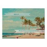 PixDezines rsvp vintage beach wedding Personalized Invites