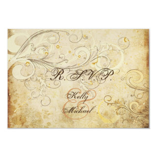 PixDezines rsvp vintage cream swirls Card