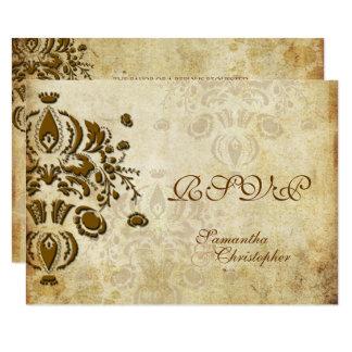 PixDezines RSVP, VINTAGE DOLCE DAMASK Card