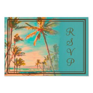 PixDezines rsvp vintage hawaiian beach/teal Announcements