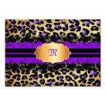 PixDezines rsvp, vintage lace+cheetah/purple+pink Personalized Announcement