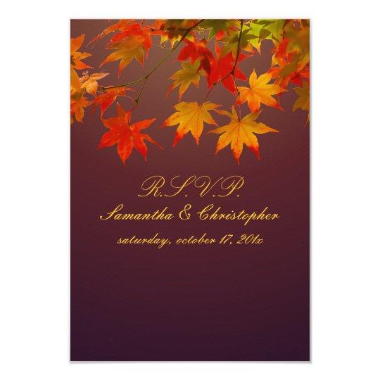 PixDezines rsvp vintage maple leaves Card