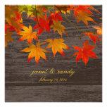 PixDezines rustic maple leaves/fall event Personalized Invitations